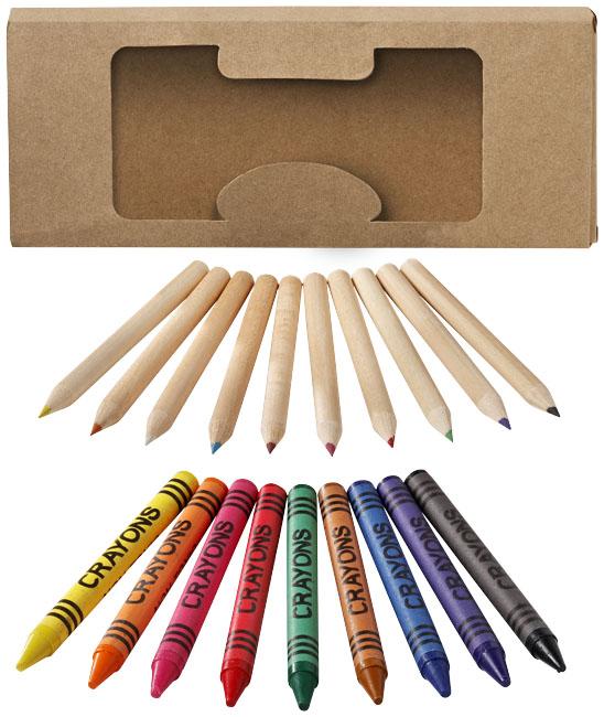 Set di matite e pastelli a cera