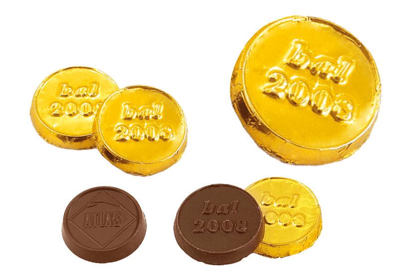 Cioccolatino a forma di moneta