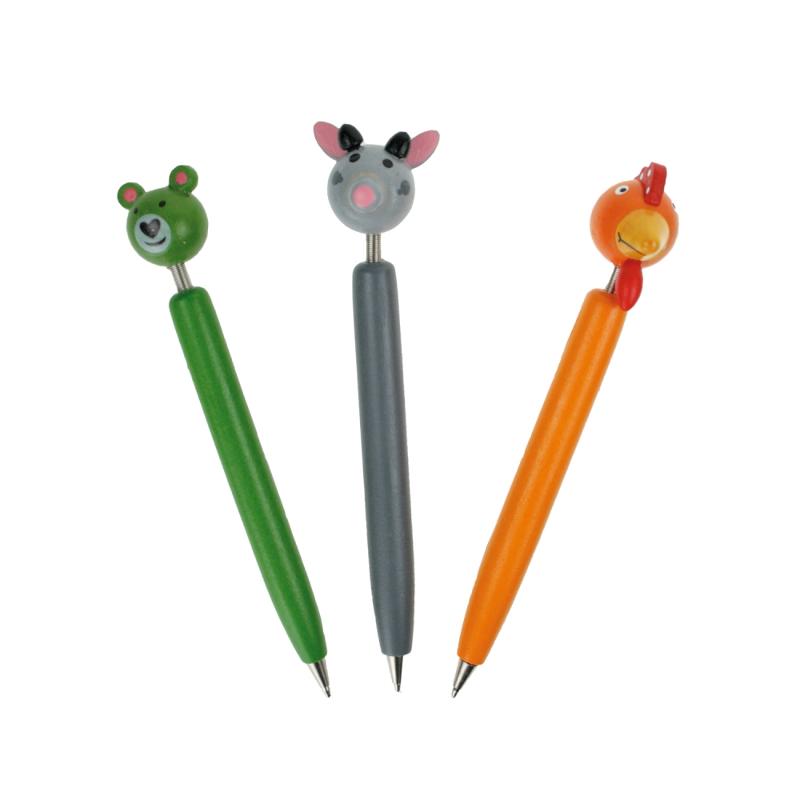 Penna a sfera animaletti