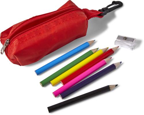 Set astuccio con 8 matite