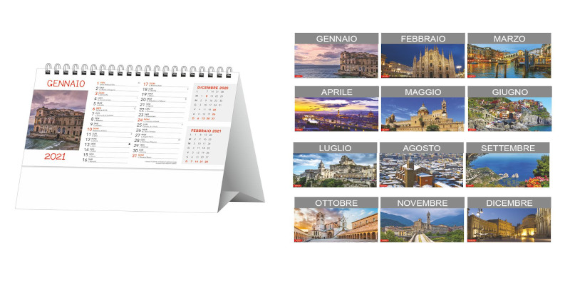 Calendario tavolo Paesaggi e Citta'