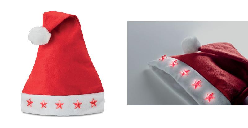 Cappello Natalizio con luci LED