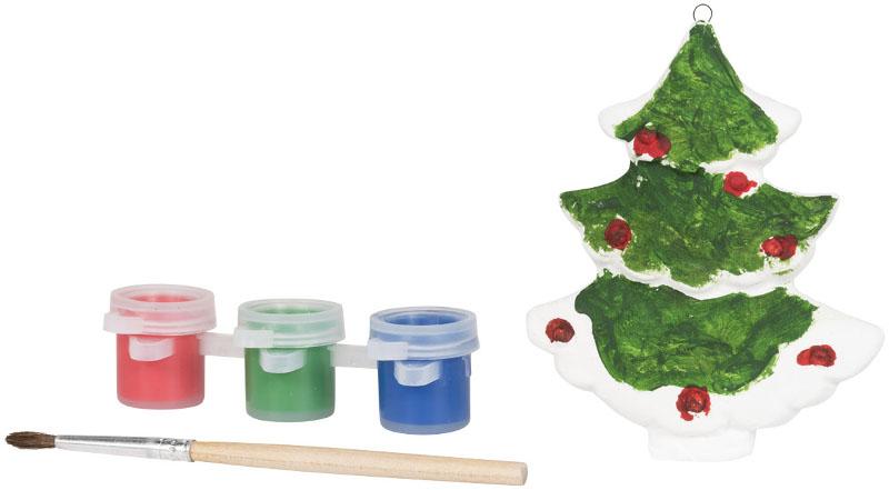 Set con albero di Natale da dipingere