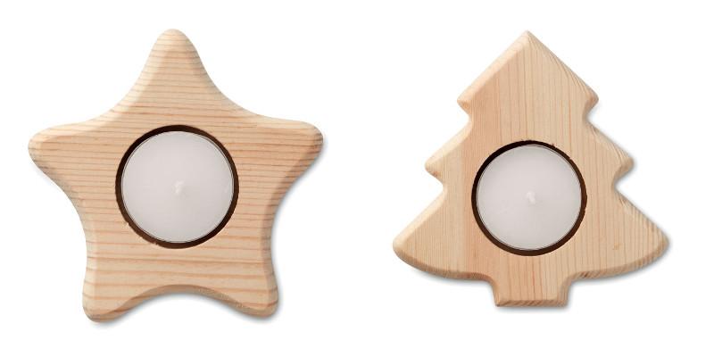 Porta tea light in legno