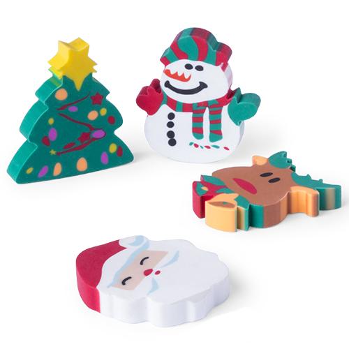 Set di gomme con disegni natalizi