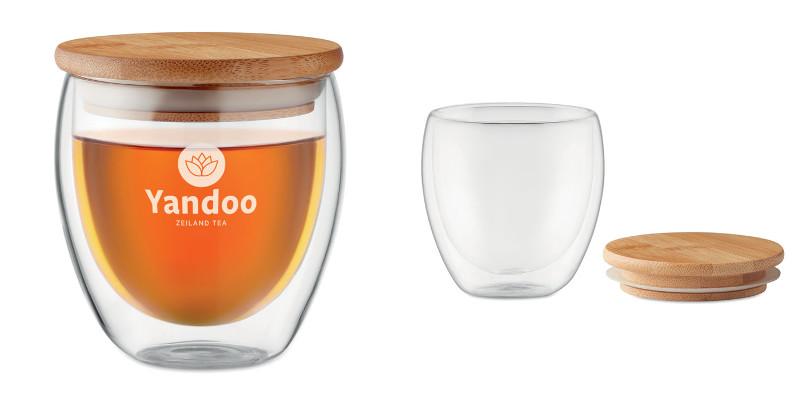 Bicchiere in doppio vetro da 250 ml
