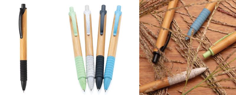 Penna in bamboo e fibra di grano