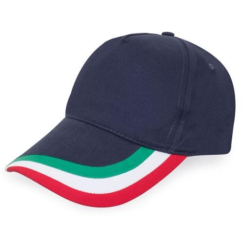 Cappellino in cotone con tricolore