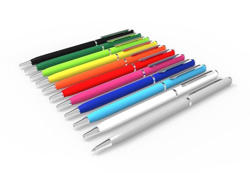 Penna sottile in metallo